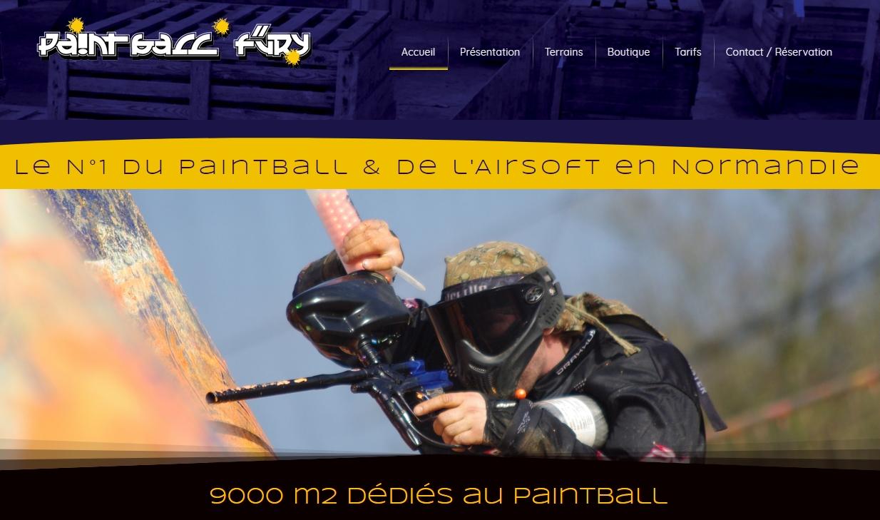 Le site de Paintball de Jérôme, élève de l'école.